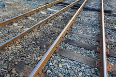 Straight railroad track. Stock Images
