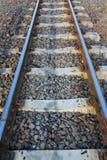 Straight railroad track. Stock Photography