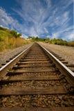 Straight Railroad Tracks royalty free stock photography