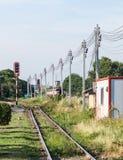 Straight railway Royalty Free Stock Photo