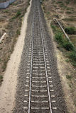 Straight Railway Track Royalty Free Stock Photography