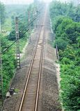 Straight Railway Tracks Stock Photos