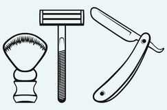Free Straight Razor And Shaving Brush Stock Images - 32774614