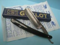 Straight razor vintage rasoir coupe chou grelot thiers Stock Photo