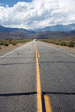 Straight road. To the mountains Royalty Free Stock Photography