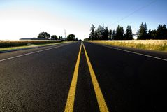 Straight road. In american countryside Stock Photography