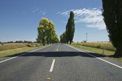 Straight road. Royalty Free Stock Image