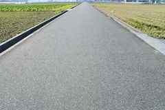 Straight road. This is a picture of a straight road Royalty Free Stock Images