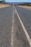 Straight road across South Africa. Paved scenic road across South Africa Stock Photos