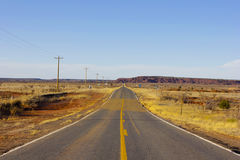 Straight road. In Arizona, outside of phoenix Royalty Free Stock Photos