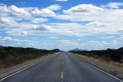 Straight road of ceara Stock Images