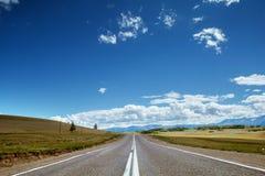Straight road goes to horizon Stock Photography