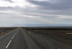 Straight road. Iceland Stock Image