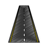 Straight road isolated icon. Vector illustration design Royalty Free Stock Photography