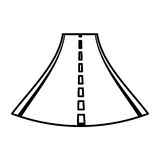 Straight road isolated icon. Vector illustration design Royalty Free Stock Images