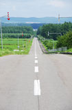 Straight road in Japan Royalty Free Stock Photos