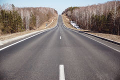 Straight road. The straight road leading into the light Royalty Free Stock Images