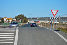 A Straight Road Stock Photo