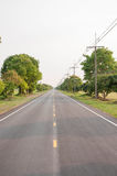 Straight road. Royalty Free Stock Photography