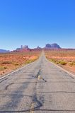 Straight roads towards Monument Valley Stock Photography