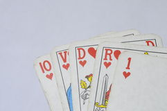 Straight royal Flush poker hand Stock Photography