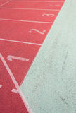 Straight Running Track Stock Photography