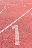 Straight Running Track Royalty Free Stock Image