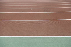 Straight running track Royalty Free Stock Photography