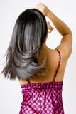 Straight Shiny Black Hair  Stock Photos