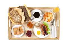 Straight shot of breakfast tray Stock Image