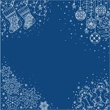 Straight and simple backgrounds - Christmas lace1 Stock Photography