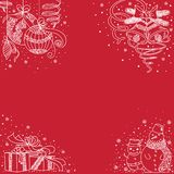 Straight and simple backgrounds - Christmas lace2 Stock Photography