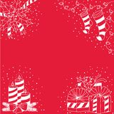 Straight and simple backgrounds-Christmas stripes1 Royalty Free Stock Photography