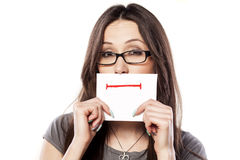 Straight smile Stock Photography