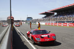 Straight start Line at Le Mans Stock Photography
