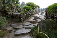 Straight stone path in Korakuan Garden Stock Image