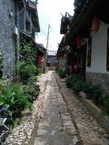 A straight stone slab Road Stock Images