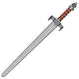 Straight sword Stock Images