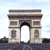 Straight on triomphe. A straight on view of the triomphe at day Royalty Free Stock Images