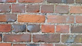 Straight brick wall up close stock image
