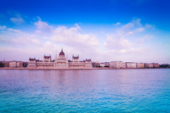 Straight view of Parliament in Budapest. Hungary Stock Photos