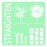 Straighten. 5s methodology vector illustration