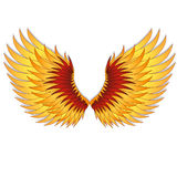 Straighten wings of the phoenix. Stock Photos