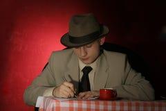 Strainger - man in grey hat Royalty Free Stock Photos