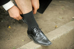 Straining Sock Stock Image