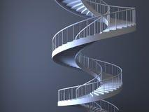 Strairs espirales aislados Imagen de archivo