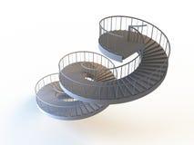 Strairs espirales aislados Foto de archivo libre de regalías
