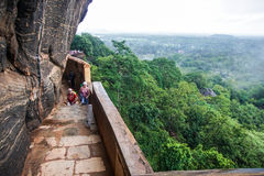 Strairs at Sigiriya Rock Royalty Free Stock Images