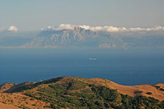 Strait av Gibraltar Arkivbilder