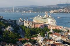 Strait of Bosphorus. Ships on the Strait of Bosphorus stock photo
